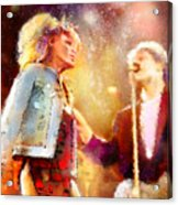 Tina Turner And Bryan Adams Acrylic Print