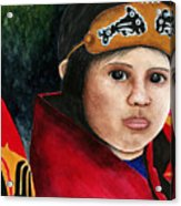 Tinglit Native Girl Acrylic Print