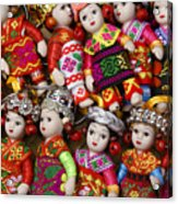 Tiny Chinese Dolls Acrylic Print