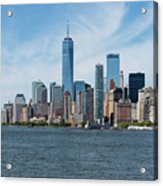 Tip Of Manhattan Wide Acrylic Print