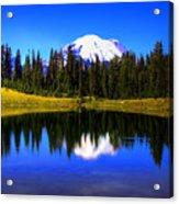 Tipsoo Lake And Mt Rainier Acrylic Print