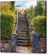 Tipsy Stairs Acrylic Print