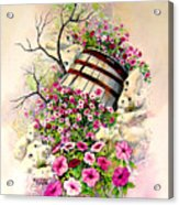 Tipsy Whiskey Barrel Acrylic Print