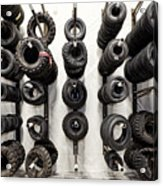 Tire Rack Acrylic Print