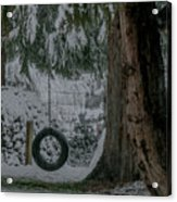 Tire Swing In Winter Acrylic Print