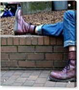 Tired Boots Acrylic Print