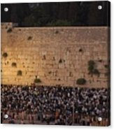 Tisha B'av At The Kotel Acrylic Print