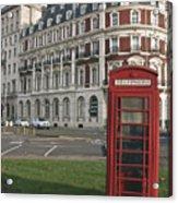 Titanic Hotel And Red Phone Box Acrylic Print