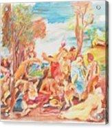 Titian Bacchanalia Color Acrylic Print