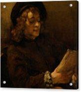 Titus Van Rijn, The Artist's Son, Reading Acrylic Print