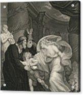 Titus's Garden. Lucius Pursued By Lavinia Acrylic Print
