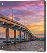 Titusville Sunset Bridge Acrylic Print