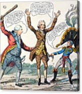 T.jefferson Cartoon, 1809 Acrylic Print
