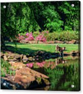 Taking A Break At The Azalea Pond Acrylic Print