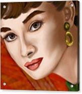 To Audrey Acrylic Print by Sydne Archambault