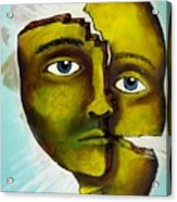 To Destroy The False Image Acrylic Print by Paulo Zerbato