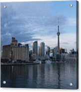 T O Harbour In Blue Acrylic Print