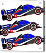 To Peugeot 908s Le Mans 2011 was Uphill Acrylic Print