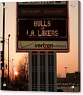 To The Bulls Game Acrylic Print