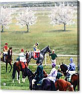 To The Gate At Keeneland Acrylic Print by Thomas Allen Pauly
