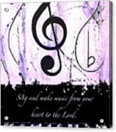 To The Lord - Purple Acrylic Print