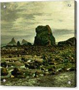 To Walk Alone Along Rocky Shores Acrylic Print