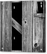 Tobacco Barn Wood Detail Acrylic Print