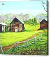Tobacco Barns North Carolina Acrylic Print