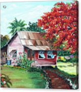 Tobago Country House Acrylic Print