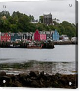 Tobermory Town Cityscape, Isle Of Mull Acrylic Print