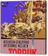 Tobruk Theatrical Poster 1967 Color Added 2016 Acrylic Print