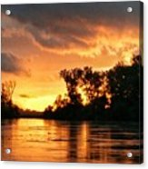 Today's Sunrise In Atchison.  Acrylic Print