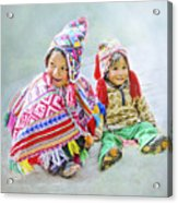 Toddler Dolls Acrylic Print