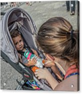 Toddler In Stroller 10512ct Acrylic Print