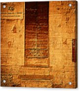 Todi Italy Medieval Door  Acrylic Print