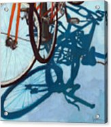 Together - City Bikes Acrylic Print by Linda Apple
