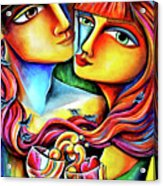 Together In Love Acrylic Print