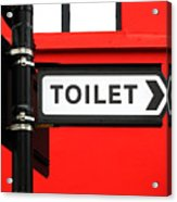 Toilet Acrylic Print
