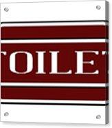 Toilet Station Name Sign Acrylic Print