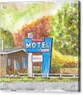 Toiyabe Motel In Walker, California Acrylic Print