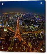Tokyo At Night Acrylic Print