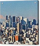 Tokyo City Aerial Acrylic Print