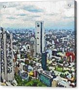 Tokyo City View Acrylic Print