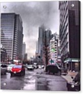 Tokyo Cloudy Acrylic Print