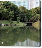 Tokyo Japanese Garden Acrylic Print