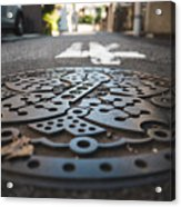 Tokyo Sewer Cover Acrylic Print