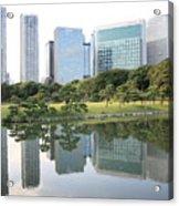 Tokyo Skyline Reflection Acrylic Print