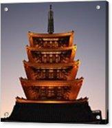 Tokyo Temple Lights Acrylic Print