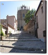 Toledo Steps To Cathedral Acrylic Print
