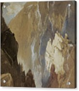 Toltec Gorge And Eva Cliff From The West, Colorado, 1892 Acrylic Print